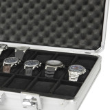 Watch Case Aluminum Briefcase Design For 24 Large Watches   Inner view