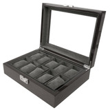 Back Watch Box with Removable Tray - Open View