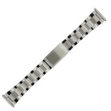 Watch Band Oyster Style Link Stainless Steel Metal Mens- 18mm-22mm
