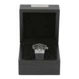 Engravable Black Single Watch Box | TSBX100BLK | TechSwiss Front Open