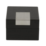 Engravable Black Single Watch Box   TSBX100BLK   TechSwiss Front Closed