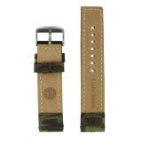 Dark Green Nylon and Leather Camouflage Watch Band | TechSwiss LEA1582 | Lining