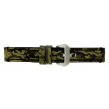 Extra Long Camouflage Green Leather Watch Band | TechSwiss LEA1580 | Buckle