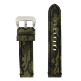 Extra Long Camouflage Green Leather Watch Band | TechSwiss LEA1580 | Main