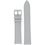 Extra Long White Leather Watch Band | Long Crocodile Grain Watch Strap | TechSwiss LEA230XL | Main
