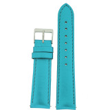 Aqua Metallic Leather Watch Band | Shiny Ladies Watch Straps | TechSwiss LEA376 | Main
