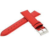 Red Metallic Shiny Leather Watch Band | Built In Spring Bars | TechSwiss LEA377 | Side