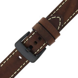 Watch Band Thick Brown Heavy Buckle | Paneria Style Non Original Replacement Watch Straps | Tech LEA1558 | Buckle