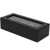 5 Watch Box | Black Distressed wood Closed TSBOX6100ESSBK
