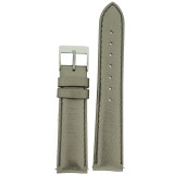 Watch Band Ladies Bronze Silver Metallic Leather LEA375 Front