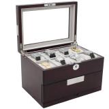 16 Watch Box | 16 Watch Storage Case | TechSwiss | Open