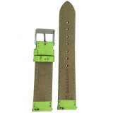 Top View GreenLime Green Metallic Leather Watch Band | Green Shiny TechSwiss Watch Bands | LEA374 | Interior