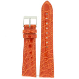 Orange Crocodile Patent Leather Watch Band | Orange Quick Release Easy Change Watch Bands | TechSwiss LEA872 | Main