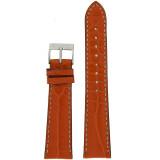 Watch Band Genuine Alligator Orange White Stitching