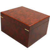 Matte Burlwood XXL Watch Box - Montego - TechSwiss - Last View