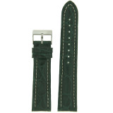 Dark Green Crocodile Genuine Leather Watch Band | Exotic Skin Straps | TechSwiss LEA875 | Main