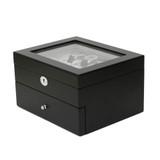 Black Wood Large Watch Box   Wood Watch Window Display Case   TechSwiss Mens Luxury Organizers   TechSwiss TSAA31-578   Main