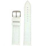 White Leather Crocodile Grain Watch Band | Traditional White Crocodile Grain Leather Watch Strap | TechSwiss LEA1820 | Main