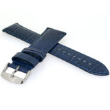 Long Navy Blue Leather Watch Band   Long Crocodile Watch Strap   TechSwiss Long Leather Straps   LEA1870   Padding