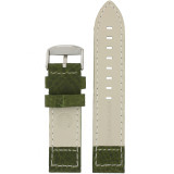 Green Pilot Watch Band with White Contrast Stitching | TechSwiss LEA1925 | Lining