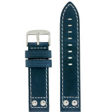 Watch Band Leather Blue Pilot LEA1920 | Navy Blue Leather Straps | Main