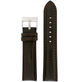 Padded Leather Watch Band in Deep Espresso Brown   Comfortable Watch Straps   TechSwiss   LEA1455   Main