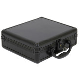 Black Aluminum Watch Box for 8 boxes | TechSwiss ALBX08BK | Closed