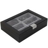 Sunglass Display Case | Wooden Eyeglass Box | Sunglass Storage | TechSwiss TSSG500ESSBK | Side