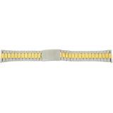 Watch Band Link Metal 2-Tone Stainless Steel Mens 20mm  MET226