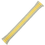 XL Watch Band Expansion Long Metal Stretch Two-Tone Mens 16mm-20mm