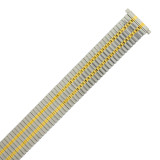 Watch Band Expansion Metal Stretch Two Tone Silver-Gold Thin Line