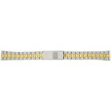 Watch Band Jubilee Style Stainless Link Straight Ends 16mm
