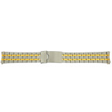 Watch Band Metal Stainless Steel Gold Plated 2-Tone 20mm