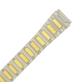 Watch Band Expansion Stretch Metal Two-Tone Tone Mens 18