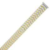 Ladies Watch Band Expansion Metal Stretch Two Tone