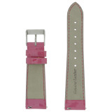 Magenta Patent Leather Watch Band | Fuschia Leather Watch Straps | TechSwiss LEA400 | Lining