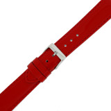 Red Patent Leather Watch Band | Red Glossy Watch Strap | Cherry Red Watch Band | Italian Calfskin | LEA401 | Buckle