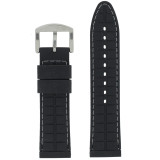 Waterproof Silicone Watch Band with White Topstitch   TechSwiss RS141   Lining