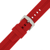Red Silicone Waterproof Watch Band | TechSwiss TS140 | Buckle