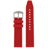 Red Silicone Waterproof Watch Band | TechSwiss TS140 | Interior