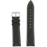 Dark Green Mens Waterproof Pebbled Leather Watch Band | TechSwiss TSA459 | Main