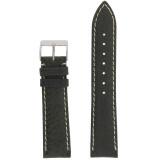 Dark Green Mens Waterproof Pebbled Leather Watch Band | TechSwiss TSA459 | Main
