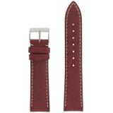 Watch Band Waterproof Leather Red TSA458 | Front
