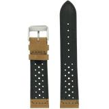 Brown Leather Watch Band Mens TSA420 | Back