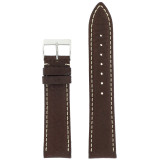 Mens Watch Band Water Resistant Leather Brown LEA479 | Front