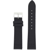 Black Canvas Sport Watch Band | Sporty Modern Watch Straps | Water Resistant Canvas Watch Bands | TechSwiss LEA1210 | Main
