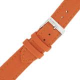 Orange Canvas Watch Band | Orange Water Resistant Strap  | TechSwiss LEA1230 | Buckle