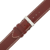 Red Watch Strap Leather Water Resistant LEA475
