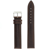 Extra Long Espresso Brown Leather  Watch Band | Extra Long Calfskin Leather Watch Straps | TechSwiss LEA1432XL | Main