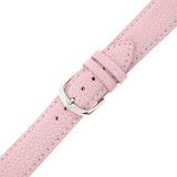 Pink Pebbled Leather Watch Band | TechSwiss LEA350 | Buckle